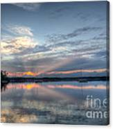 Reservoir Sunset Canvas Print