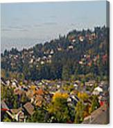 Residential Homes In Suburban North America Canvas Print