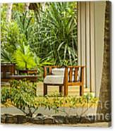 Resort Bungalow Near The Beach Canvas Print