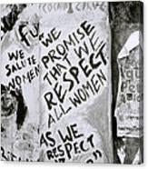 Respect Women Graffiti Canvas Print