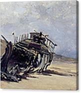 Rest Of A Shipwreck Canvas Print