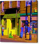 Restaurant El Pintxo Rue Roy Plateau Montreal Basque Food Spanish Cafe City Scene Art Carole Spandau Canvas Print