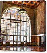 Restaurant In Los Angeles Union Station Canvas Print
