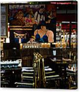 Restaurant In Montmartre Canvas Print