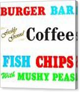 Restaurant Signs Canvas Print