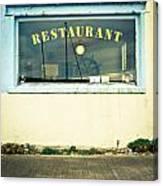 Restaurant Window Canvas Print