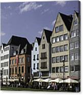 Restaurants And Brewpubs Along The Rhine Cologne Canvas Print