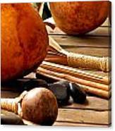 Resting Hula Implements Canvas Print