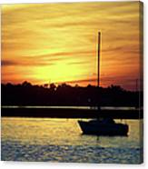 Resting In A Mango Sunset Canvas Print