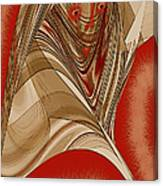 Resting Woman - Portrait In Red Canvas Print
