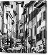 Restless In Arezzo-italy Canvas Print