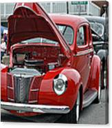Restored Classic Cars Canvas Print