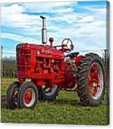 Restored Farmall Tractor Hdr Canvas Print