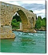 Restored Roman Bridge Over Eurynedan River-turkey Canvas Print