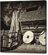 Retired Mill Stones Canvas Print