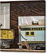 Retired Trains Canvas Print
