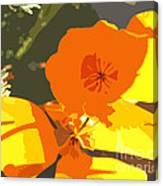Retro Abstract Poppies Canvas Print