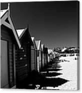 Retro Beach Huts II Canvas Print