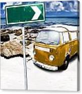 Retro Beach Van Canvas Print