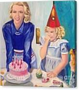 Retro Birthday Canvas Print