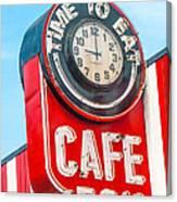 Retro Cafe Canvas Print