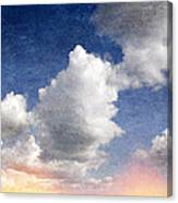 Retro Clouds 2 Canvas Print