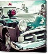Retro Cop 2 Canvas Print