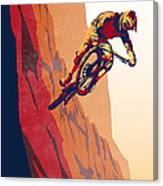 Retro Cycling Fine Art Poster Good To The Last Drop Canvas Print