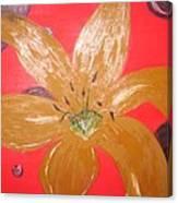 Retro Flower Canvas Print