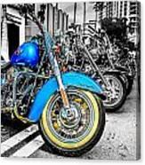 Retro Harleys Canvas Print