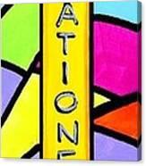 Retro Icon Canvas Print