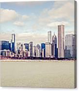 Retro Panorama Chicago Skyline Picture Canvas Print