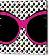 Retro Pink Cat Sunglasses Canvas Print