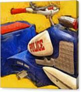 Retro Police Tricycle Canvas Print