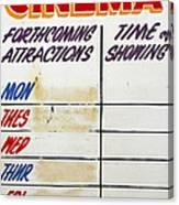 Retro Roxy Cinema Sign Canvas Print