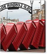 Retro Telephone Boxes Canvas Print