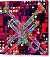 Retro Trumpets Canvas Print