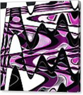 Retro Waves Abstract - Pink Canvas Print