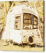 Retrod The Comic Caravan Canvas Print