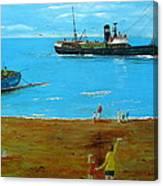 Returning Fishing Trawler  Canvas Print