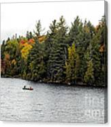 Returning From A Canoe Trip Canvas Print