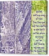 Revelation 21 4 Canvas Print