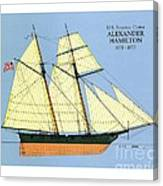 Revenue Cutter Alexander Hamilton Canvas Print