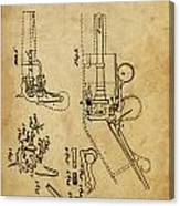 Revolving Gun Colt - Patented On 1836 Canvas Print