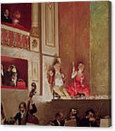 Revue At The Theatre Des Varietes, C.1885 Oil On Canvas Canvas Print