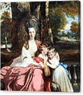 Reynolds' Lady Elizabeth Delme And Her Children Canvas Print