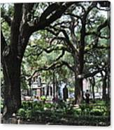 Reynolds Square In Savannah Canvas Print