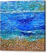 Rhapsody On The Sea Square Crop Canvas Print