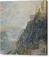 Rheinfels Looking To Katz And Gourhausen Canvas Print