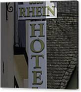 Rhine Hotel St Martin Sign  Canvas Print
